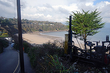 Geotechnical site investigation near St Ives, Cornwall